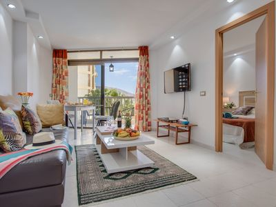 Photo for Y4F.Cute flat!Next to beach,pool view, LasAmericas