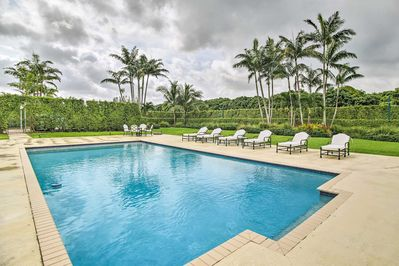Cool off with an afternoon swim or work on your tan in the lounge chairs.