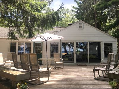 Photo for Charming Higgins Lake Lakefront Cottage with private dock and gorgeous views