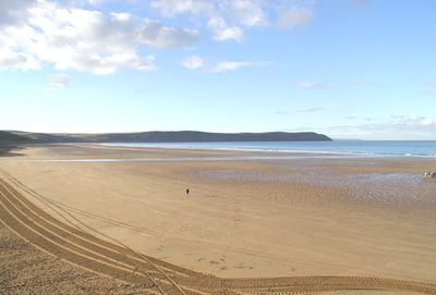 View of Woolacombe Beach from Southover Beach Apartments