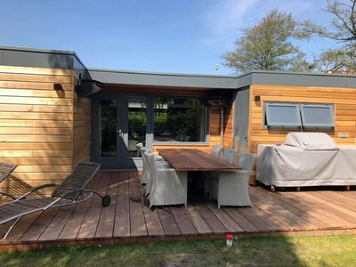 Photo for Het Ongerepte 59 luxury chalet on quiet spot and near beach