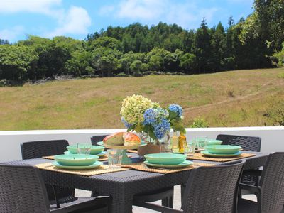 Photo for Amazing rural setting, surrounded by green fields and ocean views.