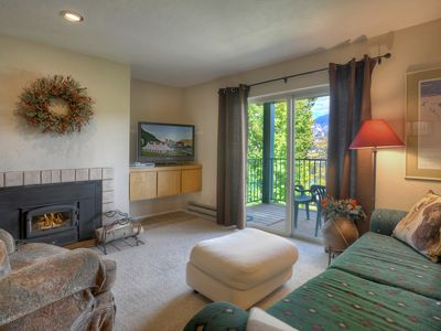 Photo for Walk to Ski Lifts and Base Area w Two Balconies and Panoramic Mountain Views