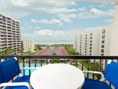 Photo for Tropical Grounds, Multiple Pools, Tennis Courts & more! Ocean Views from Condo III #703!