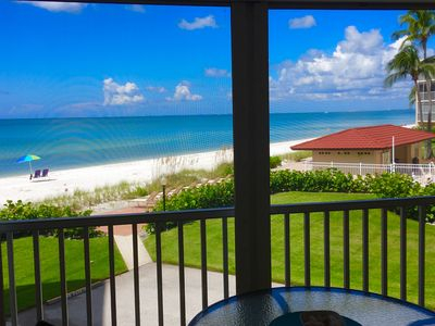 This is the view from your lanai, which is only steps from the sand and sea!