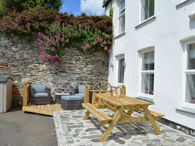 Photo for 2 bed stunning duplex WIFI wood burner very near beach & Mevagissey Fab location