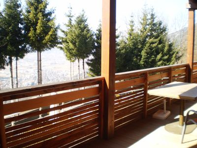 Photo for Beautiful apartment with large sun terrace!Stunning views over Lienz and the mountains!
