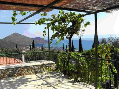 Photo for Spectacular Aegean views. Comfortable traditional house in Arcadian village