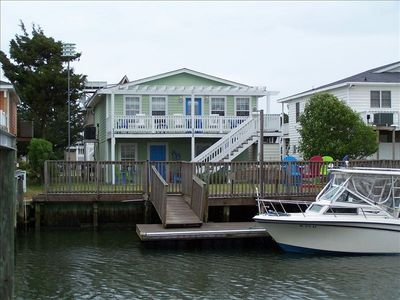 Photo for Charming Canal Home with Lg Boat Dock Steps from the beach