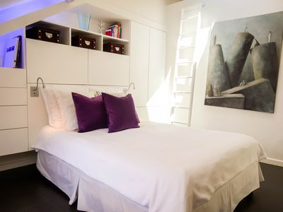 Luxury Design in lovely St-Germain, Parisian rooftops and St Sulpice church view