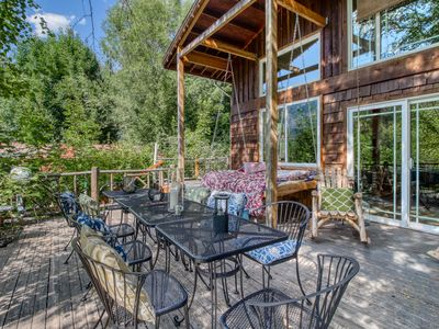 Photo for NEW LISTING! Dog-friendly private riverfront home w/ hot tub/deck- near downtown