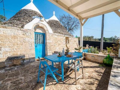 Photo for Trullo Volare,villa in trulli w/garden,A/C,large outdoor area & garden
