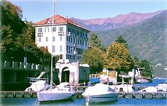 View of building from dock. (Large boat slip available.) View north to mountain.