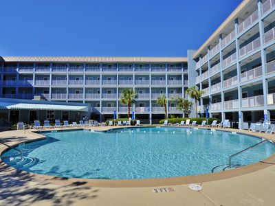 Photo for OCEAN FRONT GATED COMPLEX - Private Balcony! Indoor Pool & Easy Beach Access
