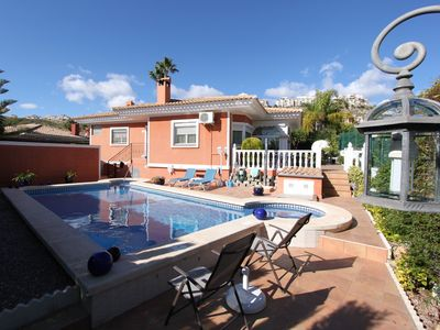 Photo for Detached 8p villa with private swimmingpool and free WiFi beach and sea nearby