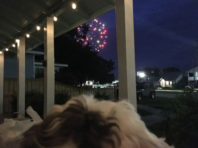 Watch the fireworks from the boardwalk from your front yard.