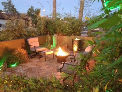 Photo for Bamboo garden w/ Firepits, MASSAGE CHAIR, New Spa, Allergy Free, GOLF game