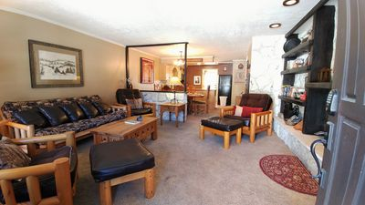 Photo for Walking distance to ski area, In town, Near river, NFL Sunday  Ticket, End Unit
