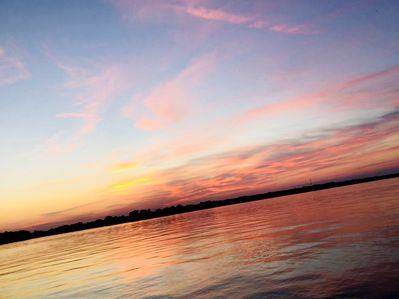 Gorgeous sunset from the dock