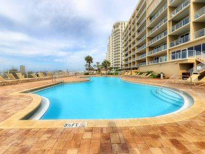 Photo for Condo on the gulf with community hot tub and playground!