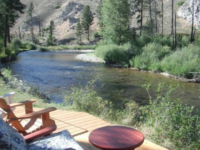 Yes, you can cast from the deck to some of the most famous dry fly fishing.