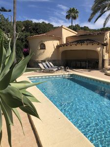 Photo for Traditional villa with private pool , pretty gardens and hillside views