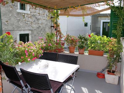 Photo for Two bedroom apartment with terrace Sućuraj (Hvar) (A-5684-a)