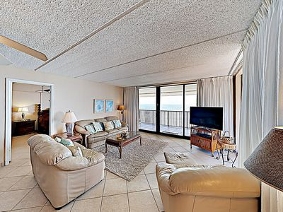 Photo for New Listing! Corner-Unit 1010 on Coast: Resort Amenities, Gulf Views, Balcony