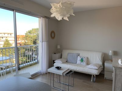 Photo for Nice studio with 2 people in Arcachon basin view - 100 m from the beach