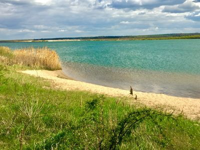 Photo for Holiday at the lake with private beach near Leipzig / Sauna- Holiday home for max. 5 PAX