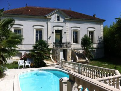Photo for Charming house St Macaire: pool and garden - 8 people