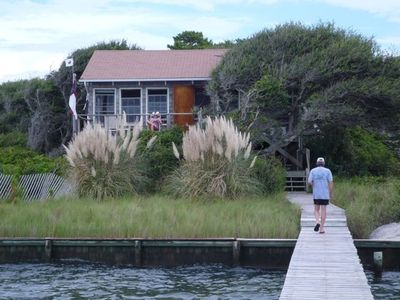 Photo for Rustic Cottage with Dock Overlooking Cape Lookout