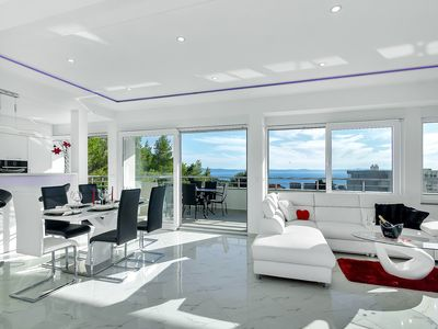 Photo for NEW! Modern penthouse with terrace sea view, 3 bedrooms, sleeps for 6-free WiFi