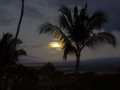 Moon from our lanai