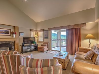 Photo for Top Floor Panoramic Views of Ski Area - Comfy Ski-In/Out 2BD/2BA Pool & Hot Tubs