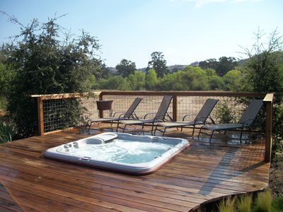 Hot tub and seating area