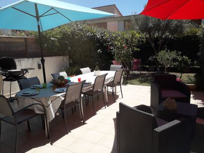 Photo for 800 m from the sea in Frejus, large duplex apartment fully air conditioned.
