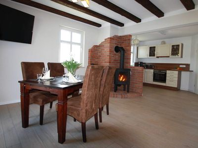 Photo for Comfort Apartment - Mönchgut - NEW: Cottage with fireplace, 2 bathrooms, 2 bedrooms - by the water