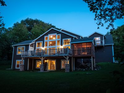Photo for 4-Season Lakeshore Lodge For Family Retreat Or Event Getaway