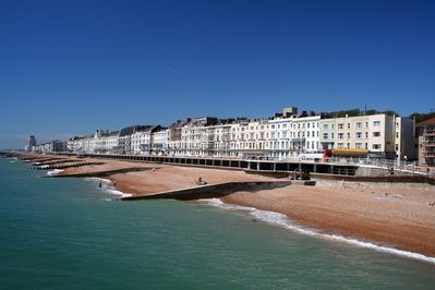 Hastings Seafront with its beautiful Townhouses