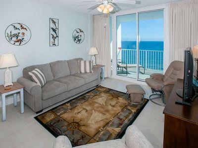 Photo for 16th floor Gulf-front | BBQ, Fitness, Wifi, In/Outdoor pools, Hot tub | Free fishing, golf, OWA tix