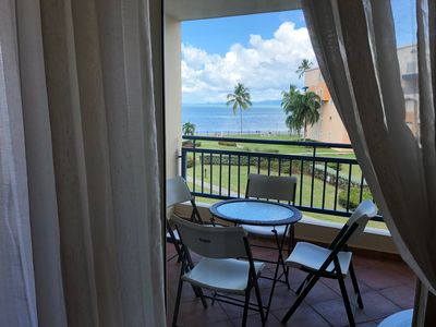 Photo for Beachfront condo, WiFi, Golf and amazing view on a secure location, sleeps 6.