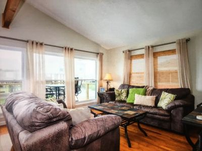 Photo for Steps From The Beach and Pet Friendly!  Watch the waves from the great deck!