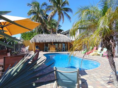 Photo for Amazing Pool/Canal/Tiki Bar Home Near Times Square and the Beach.