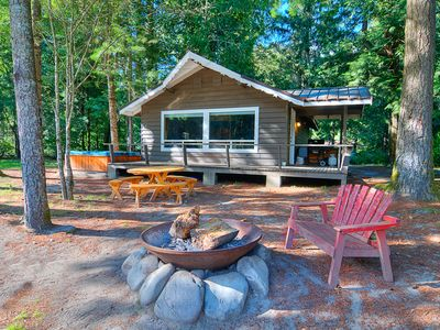 Photo for NEW LISTING! Dog-friendly cottage w/ private hot tub & mountain views!