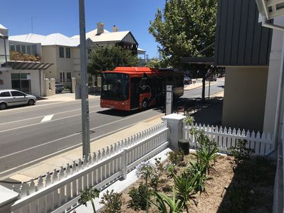 The Free Fremantle Cat bus stop just next door