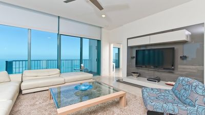 Photo for Beach side penthouse w/ balcony , teen room, spa, and 3 outdoor pools