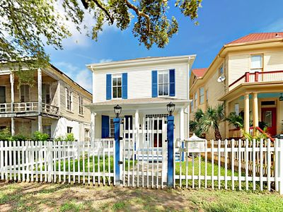 Photo for Unique Galveston Gem! Fully Renovated 3BR Historic Home w/ Porch & Backyard