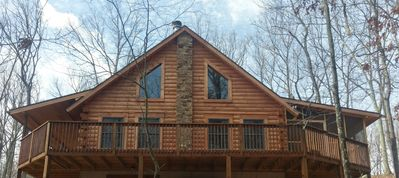 Photo for New Log Cabin Built in 2015 Located at the Base of Sleepy Creek Mountain