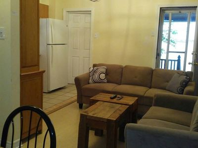 Photo for Private 3 Bedroom Apartment across from Train Station & Subway Trains